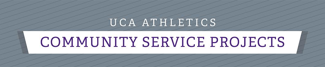 UCA Athletics Community Service Banner