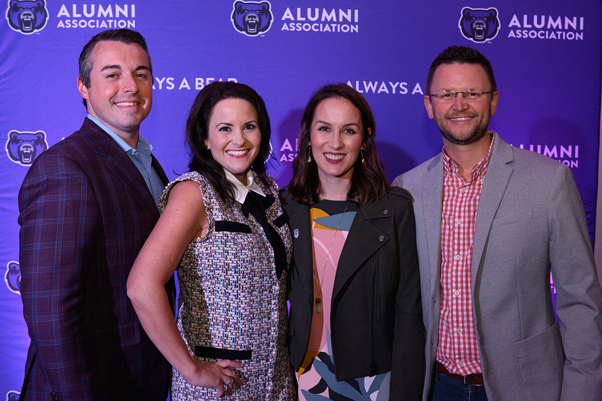 Brian '04 and Brittany Dunnaway; Amy '06, '08 and Derek Whitehead '06