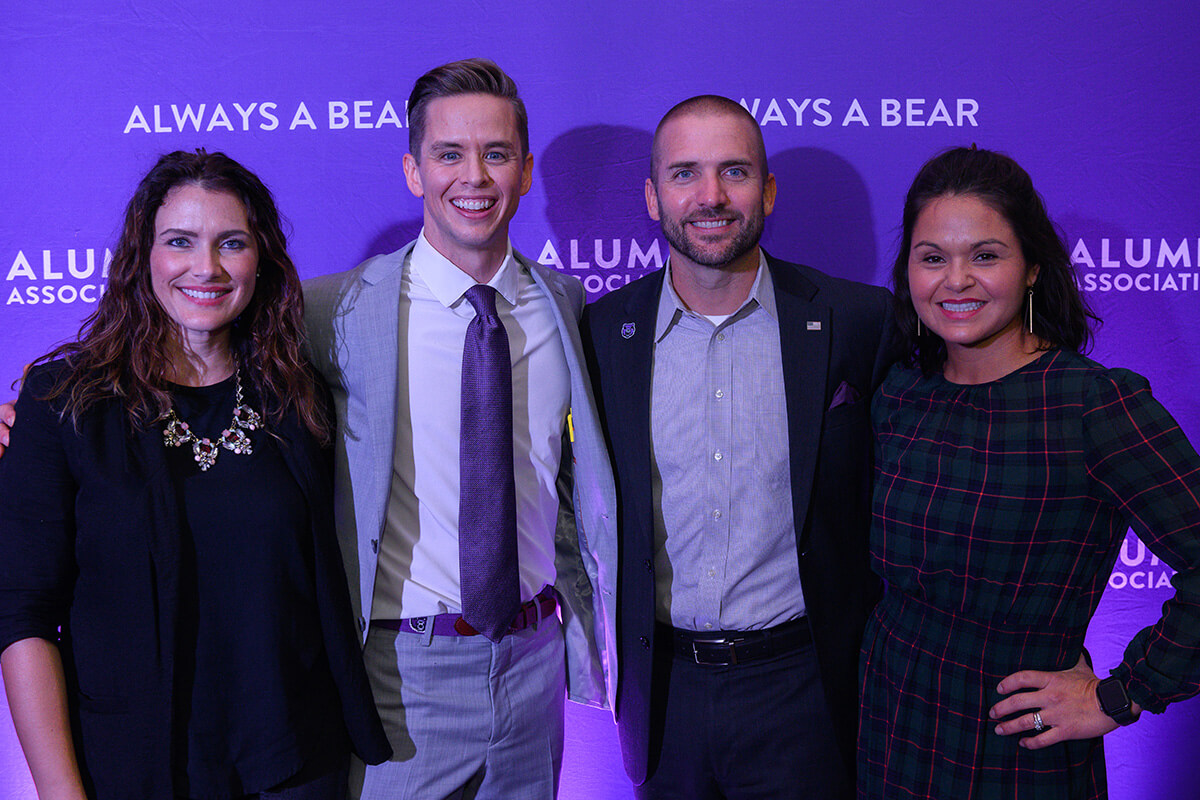 Leslie and Spencer Gordy '07, Young Alumni Award recipient; Troy '02 and Karla Braswell '03