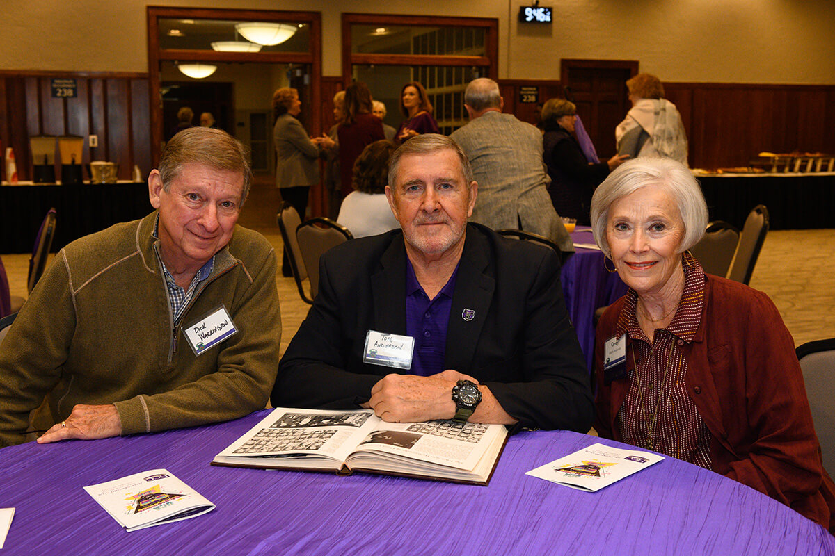 Dick Warrington '68; Tom '68 and Candy Anderson '69