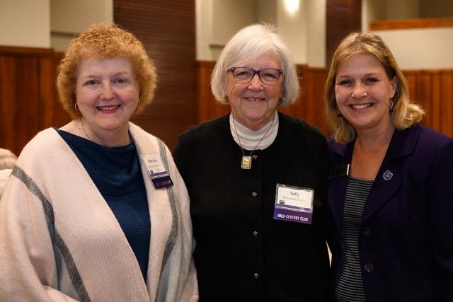 Mary Sue Mistric-Brown; Sally Hennis '69; Joan Shofner '94