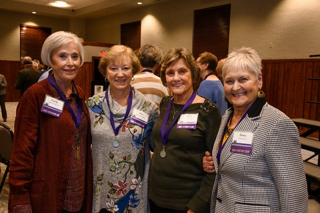 Candy Anderson '69, Sara Darling '69, Elaine Warrington '69 and Diana Pavatt '69 attend the Decades Brunch/Half-Century Club Induction on Oct. 26. That day, the four were inducted into the Half-Century Club and joined more than 2,000 graduates and classmates who have been inducted into the elite group.