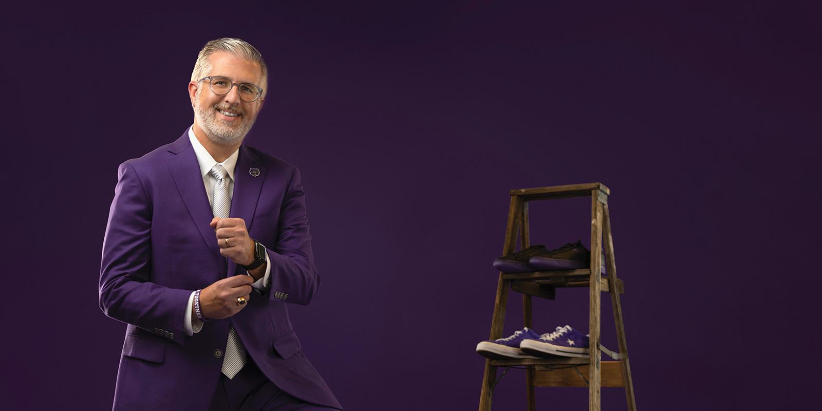 Purple Attire Inspires School Spirit