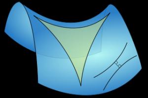 Hyperbolic Triangle (public domain image)