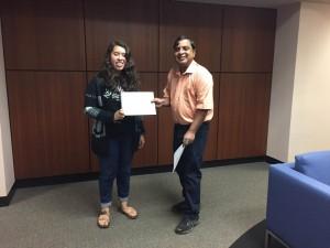 Diana Morales with Dr. Garimella