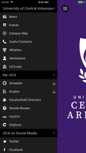 Mobile App — UCA on uca campus layout, fullerton zip code map, ualr campus map, university of houston victoria campus map, uca campus virtual, uca campus dorms, conway county arkansas township map, north central college campus map,