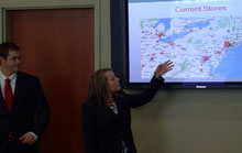 Business Students Present Case Study to Target