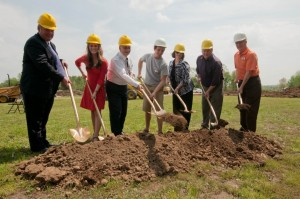 UCA administrators and SGA break ground for rec field