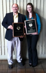 Dr. Shawn Charlton and Laura B. Horton, Psi Chi chapter president