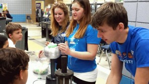 "UCA students in the Society of Physics Students participate in local ""Science Nights"" at local elementary schools."