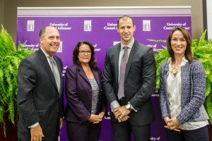 (l tor) Kelley Erstine, UCA chief of staff, Shelley Mehl, associate vice president of outreach and community engagement, Mike Preston, executive drector of the Arkansas Economic Development Commission and Amy Whitehead, director, Center for Community and Economic Development