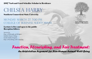 SCHEDLER SCHOLAR IN RESIDENCE LECTURE SERIES CONTINUES AT UCA