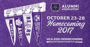 UCA BEARS CELEBRATE HOMECOMING 2017 OCT. 23-28