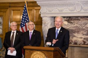 GOV. HUTCHINSON ANNOUNCES $500,000 GRANT TO UCA, PARTNERSHIP WITH AETN