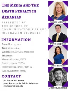 UCA CLASS TO HOST 'MEDIA AND DEATH PENALTY' DISCUSSION