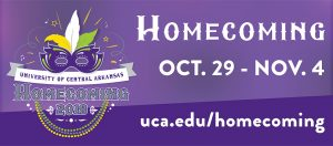 HOMECOMING 2018 AT UCA SET FOR OCT. 29 TO NOV. 4