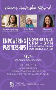 UCA WOMEN'S LEADERSHIP NETWORK TO HOST EMPOWERING PARTNERSHIPS EVENT