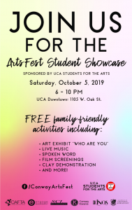 'STUDENTS FOR THE ARTS' HOSTS SHOWCASE AT UCA DOWNTOWN