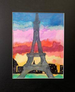 Courtney Bass Eiffel Tower, 2019 Watercolor
