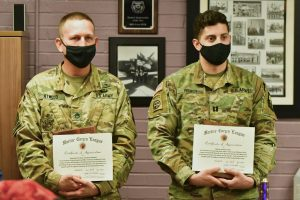 MEMBERS OF ROTC HONORED BY MARINE CORPS LEAGUE