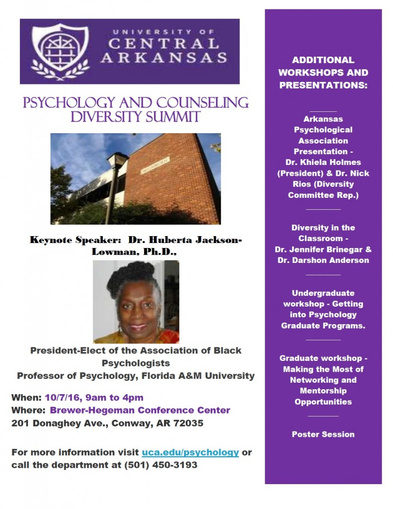 Psychology Diversity Summit Flyer