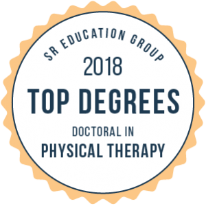 Logo award SR Education Group 2018 Top Degrees Doctoral in Physical Therapy