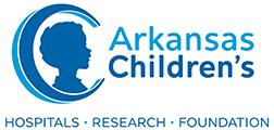 hospital logo, blue profile of child in large letter C