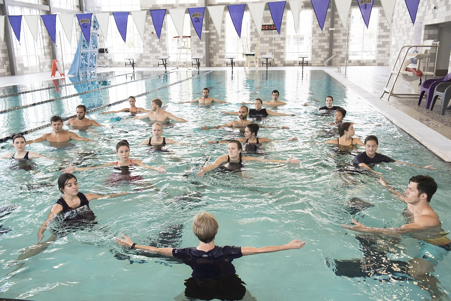 Physical Therapy students in swimming pool
