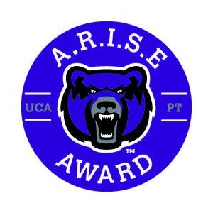 Logo UCA Bear and A.R.I.E. Award UCAPT