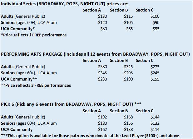 20-21 Season Ticket Information