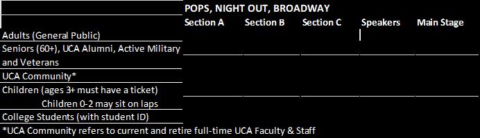 20-21 Season Single Ticket Information