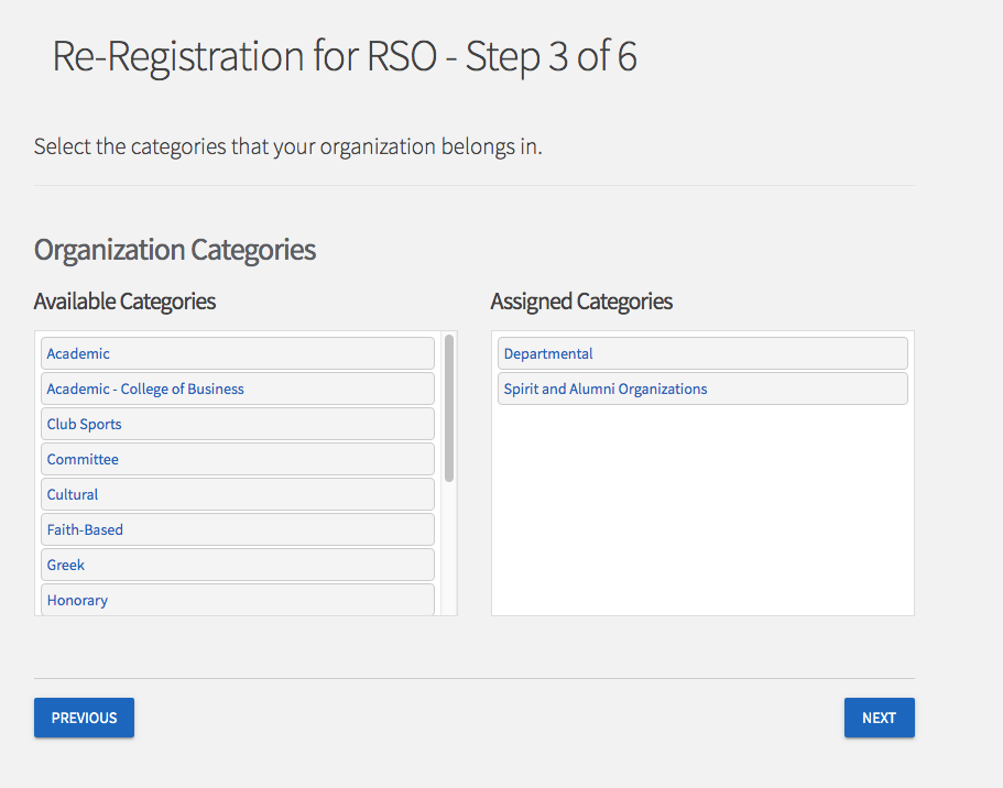 screenshot of reregistration page 3