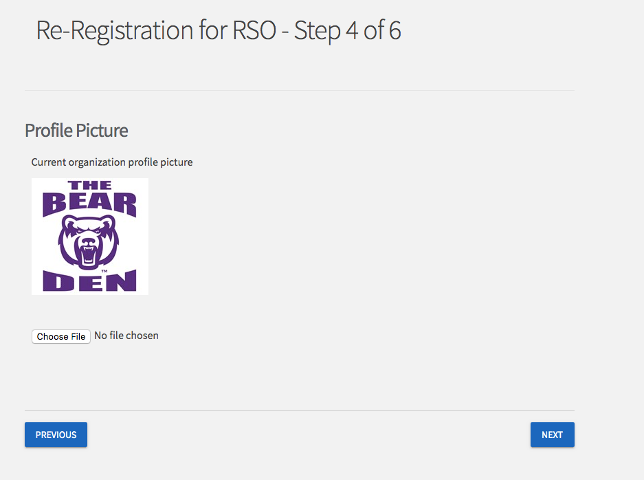 screenshot of reregistration page 4