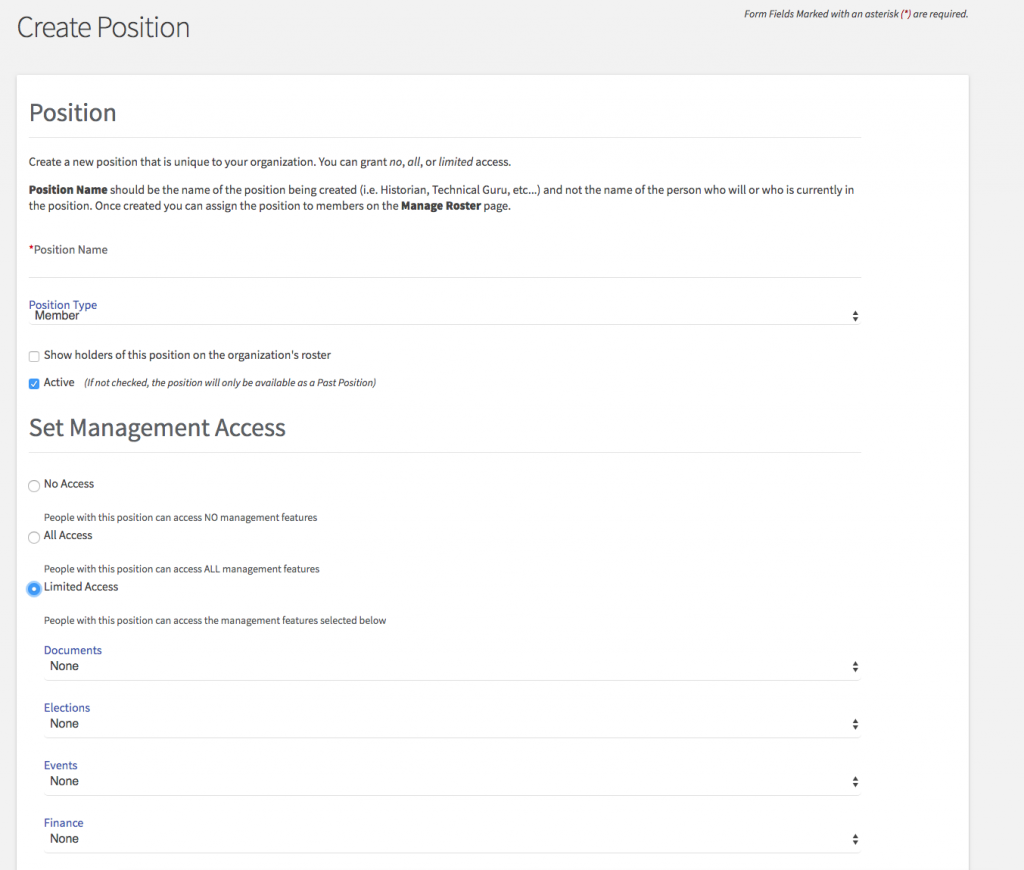 screenshot of membership access page