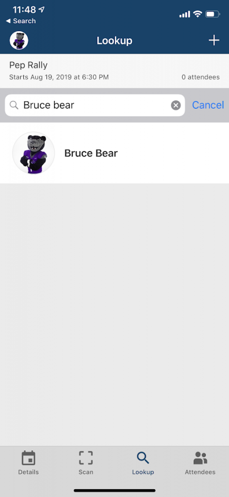 "screenshot of search by ""Bruce Bear"""