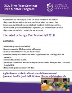 FYS Peer Mentor Interest Page