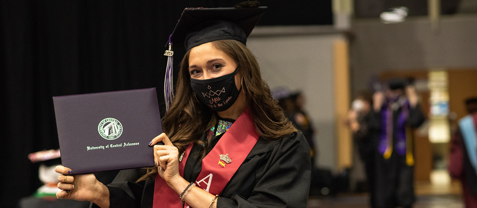 Female student at commencement